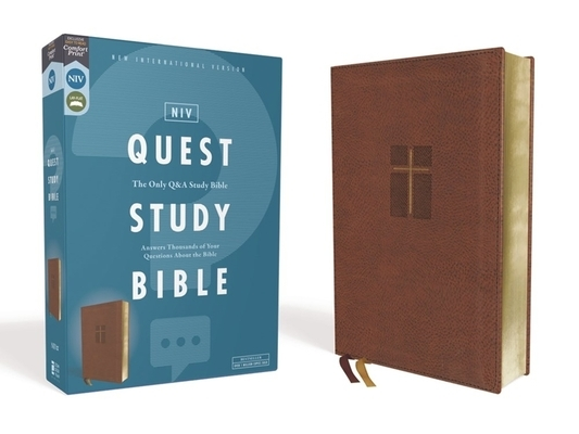Niv, Quest Study Bible, Leathersoft, Brown, Comfort Print