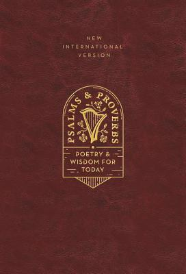 Niv, Psalms and Proverbs, Leathersoft Over Board, Burgundy, Comfort Print