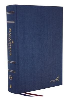 Nkjv, MacArthur Study Bible, 2nd Edition, Cloth Over Board, Blue, Comfort Print