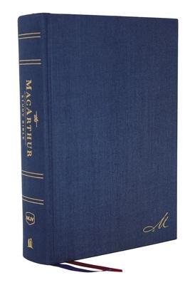 Nkjv, MacArthur Study Bible, 2nd Edition, Cloth Over Board, Blue, Comfort Print
