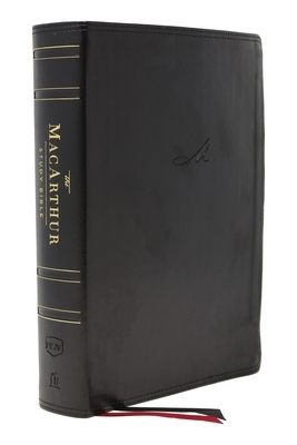 Nkjv, MacArthur Study Bible, 2nd Edition, Leathersoft, Black, Indexed, Comfort Print