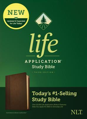 NLT Life Application Study Bible, Third Edition (Leatherlike, Dark Brown/Brown)