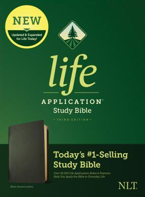 NLT Life Application Study Bible, Third Edition (Genuine Leather, Black)