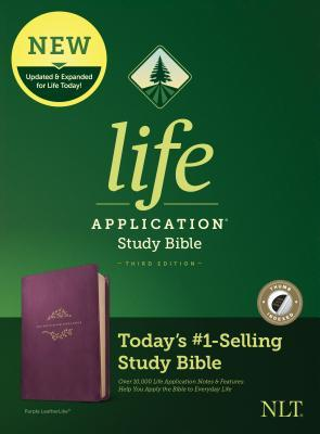 NLT Life Application Study Bible, Third Edition (Leatherlike, Purple, Indexed)