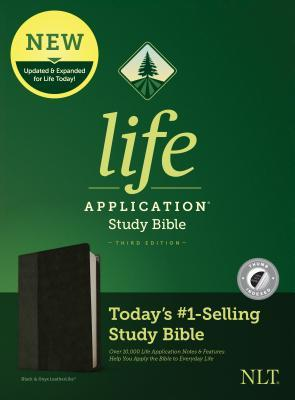 NLT Life Application Study Bible, Third Edition (Leatherlike, Black/Onyx, Indexed)