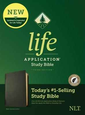 NLT Life Application Study Bible, Third Edition (Genuine Leather, Black, Indexed)