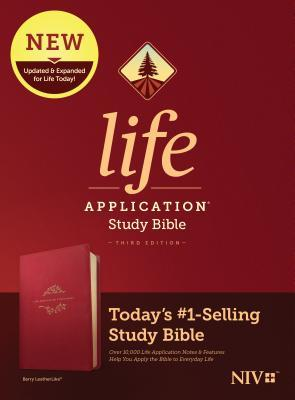 NIV Life Application Study Bible, Third Edition (Leatherlike, Berry)