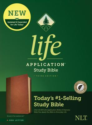NLT Life Application Study Bible, Third Edition (Red Letter, Leatherlike, Brown/Tan, Indexed)