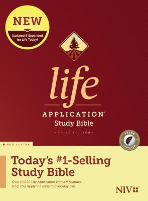 NIV Life Application Study Bible, Third Edition (Red Letter, Hardcover, Indexed)
