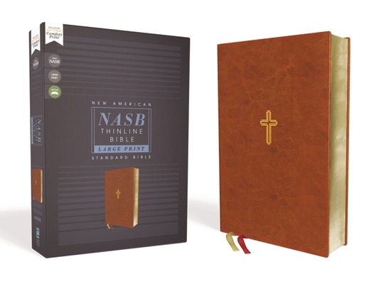 Nasb, Thinline Bible, Large Print, Leathersoft, Brown, Red Letter Edition, 1995 Text, Comfort Print