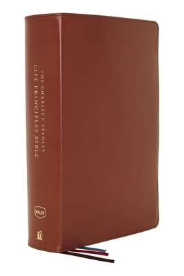 Nkjv, Charles F. Stanley Life Principles Bible, 2nd Edition, Genuine Leather, Brown, Comfort Print