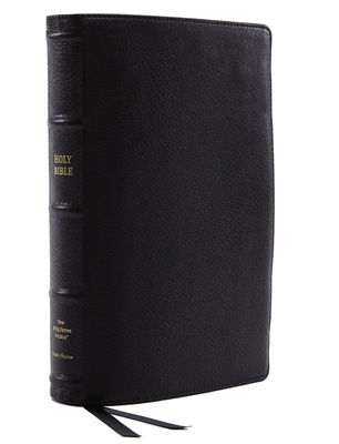 Nkjv, Reference Bible, Classic Verse-By-Verse, Center-Column, Premium Goatskin Leather, Black, Premier Collection, Red Letter Edition, Comfort Print