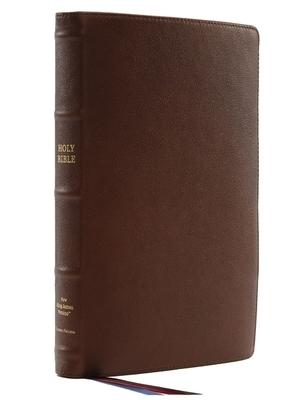 Nkjv, Thinline Reference Bible, Large Print, Premium Goatskin Leather, Brown, Premier Collection, Comfort Print
