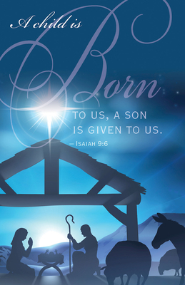 Born Nativity Christmas Bulletin (Pkg of 50)