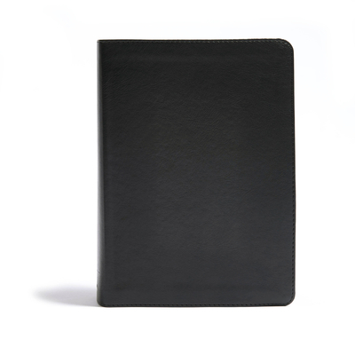 CSB He Reads Truth Bible, Black Leathertouch