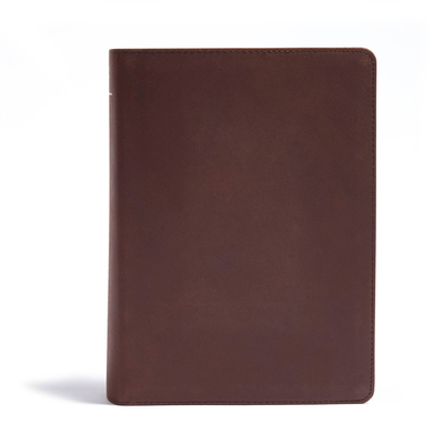 CSB He Reads Truth Bible, Brown Genuine Leather