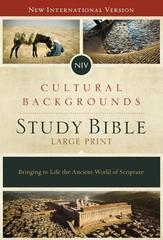 NIV Cultural Backgrounds Study Bible Large Print