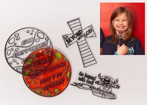 Vacation Bible School (Vbs) 2019 to Mars and Beyond Suncatchers Craft (Pkg of 12): Explore Where God's Power Can Take You!