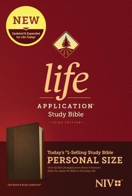 NIV Life Application Study Bible, Third Edition, Personal Size (Leatherlike, Dark Brown/Brown)