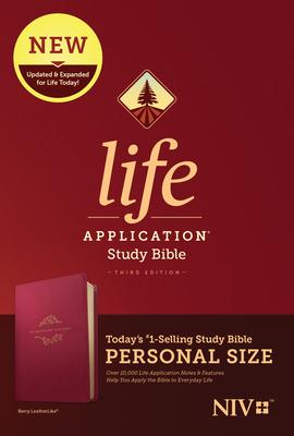 NIV Life Application Study Bible, Third Edition, Personal Size (Leatherlike, Berry)