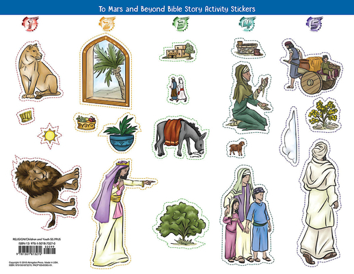 Vacation Bible School (Vbs) 2019 to Mars and Beyond Bible Story Activity Stickers (Pkg of 6): Explore Where God's Power Can Take You!