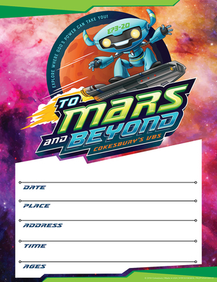Vacation Bible School (Vbs) 2019 to Mars and Beyond Small Promotional Poster (Pkg of 2): Explore Where God's Power Can Take You!
