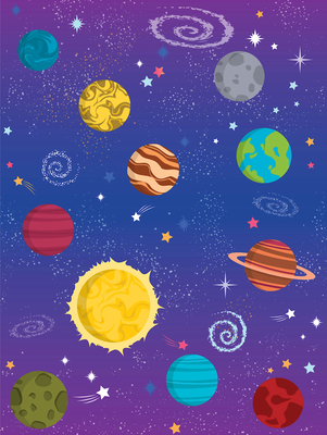 Vacation Bible School (Vbs) 2019 to Mars and Beyond Galaxy Wall Covering: Explore Where God's Power Can Take You!