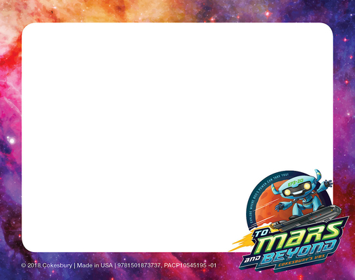Vacation Bible School (Vbs) 2019 to Mars and Beyond Nametag Cards (Pkg of 24): Explore Where God's Power Can Take You!