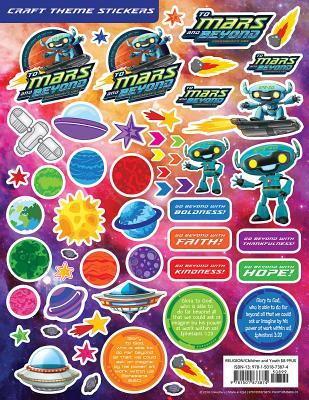 Vacation Bible School (Vbs) 2019 to Mars and Beyond Craft Theme Stickers (Pkg of 12): Explore Where God's Power Can Take You!