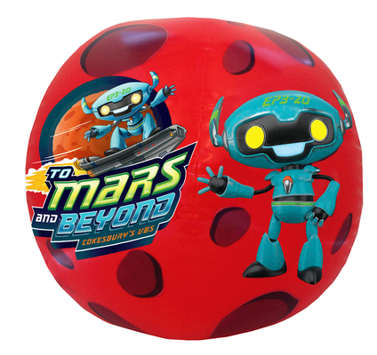 Vacation Bible School (Vbs) 2019 to Mars and Beyond Inflatable LOGO Ball (Pkg of 2): Explore Where God's Power Can Take You!