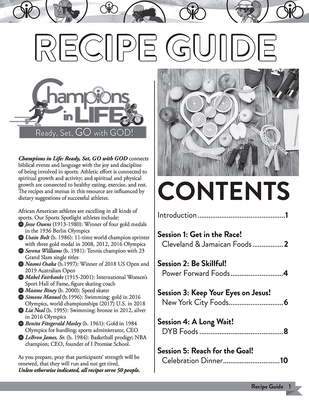 Vacation Bible School (Vbs) 2020 Champions in Life Recipe Guide: Ready, Set, Go with God!