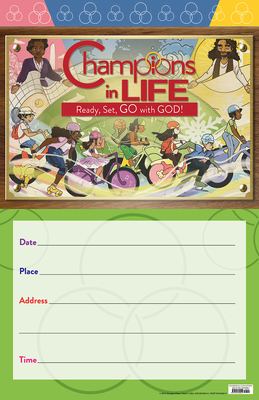 Vacation Bible School (Vbs) 2020 Champions in Life Promo Poster: Ready, Set, Go with God!