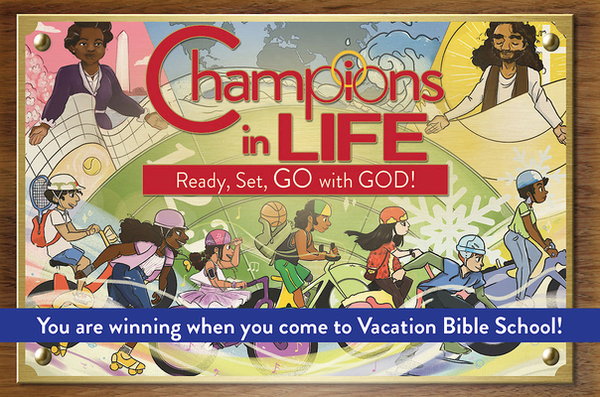 (vbs) 2020 Champions in Life Invitation Po Stcards (Pkg of 24): Ready, Set, Go with God!