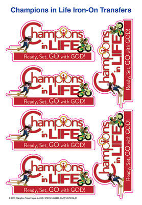 Vacation Bible School (Vbs) 2020 Champions in Life Iron-On Transfers (Pkg of 12): Ready, Set, Go with God!