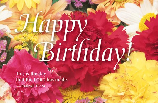 Happy Birthday Bouquet Postcard (Pkg of 25)