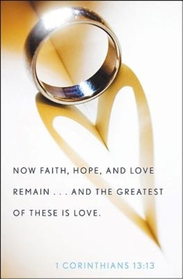 Ring with Heart Wedding Bulletin (Pkg of 50)