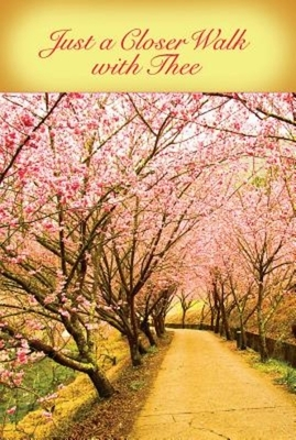 Just a Closer Walk with Thee Hymn & Song Bulletin (Pkg of 50)