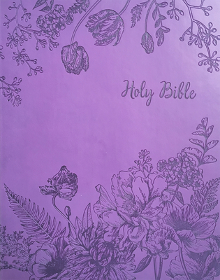 KJV Sword Study Bible Personal Size Large Print Designer Purple Ultrasoft Indexed