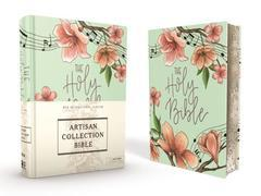 NIV, Artisan Collection Bible, Cloth over Board, Teal Floral