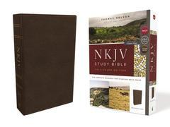 NKJV Study Bible Brown (Genuine Leather)