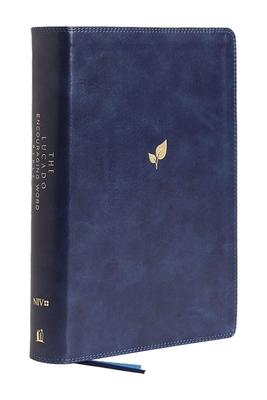 Niv, Lucado Encouraging Word Bible, Blue, Leathersoft, Comfort Print
