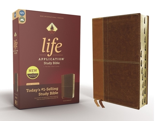 Niv, Life Application Study Bible, Third Edition, Leathersoft, Brown, Indexed, Red Letter Edition