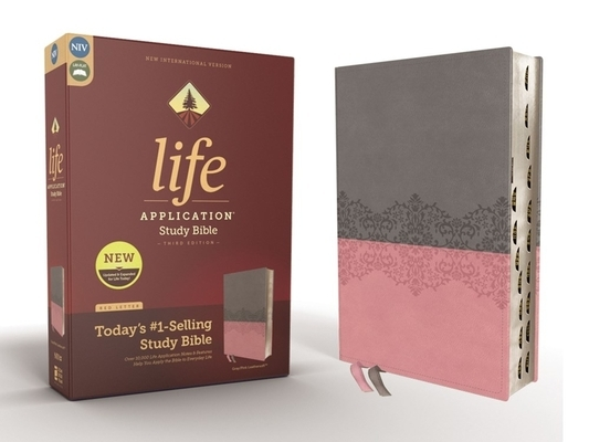 Niv, Life Application Study Bible, Third Edition, Leathersoft, Gray/Pink, Indexed, Red Letter Edition