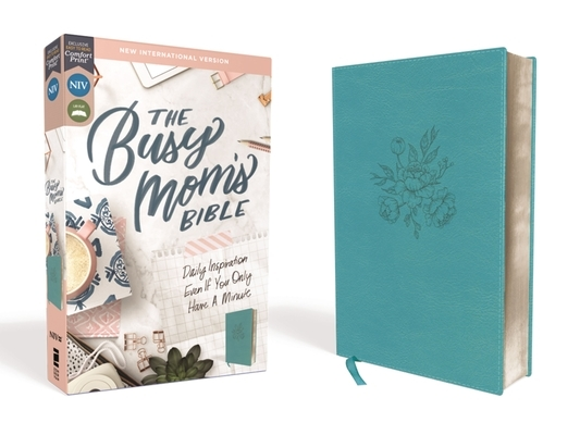Niv, Busy Mom's Bible, Leathersoft, Teal, Red Letter Edition, Comfort Print