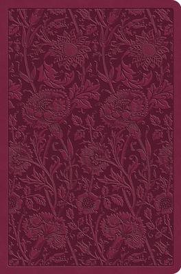 ESV Value Compact Bible (Trutone, Raspberry, Floral Design)