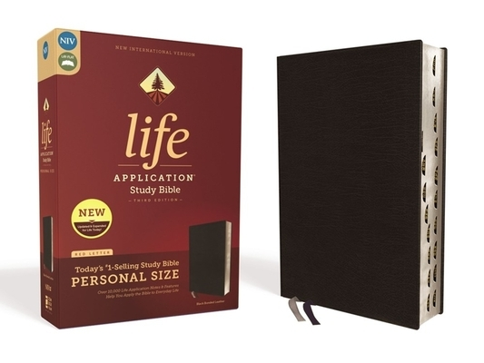 Niv, Life Application Study Bible, Third Edition, Personal Size, Bonded Leather, Black, Indexed, Red Letter Edition