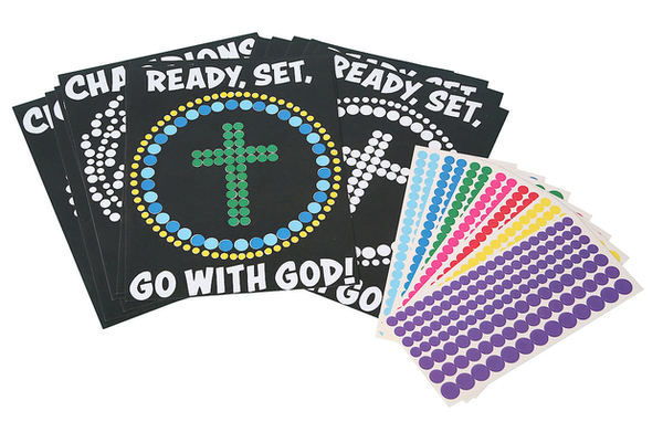 Vacation Bible School (Vbs) 2020 Champions in Life Peel and Stick Art (Pkg of 12): Ready, Set, Go with God!