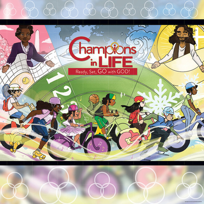 Vacation Bible School (Vbs) 2020 Champions in Life Decorating Mural: Ready, Set, Go with God!