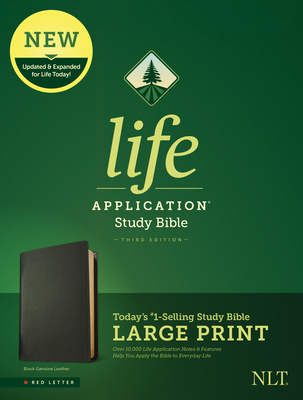 NLT Life Application Study Bible, Third Edition, Large Print (Red Letter, Genuine Leather, Black)
