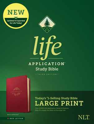 NLT Life Application Study Bible, Third Edition, Large Print (Red Letter, Leatherlike, Berry)